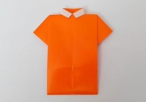 Рубашка оригами, вариант № 2