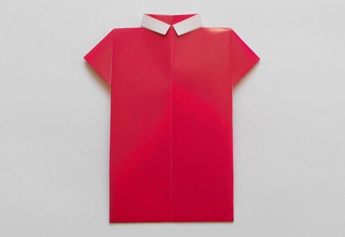 Рубашка оригами, вариант № 3