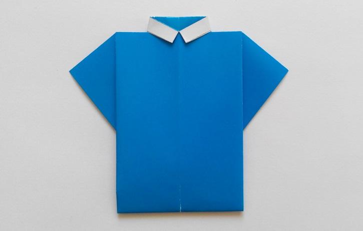 Рубашка оригами, вариант № 4