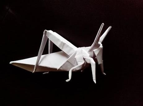 Саранча оригами (Atsunori Muraki)