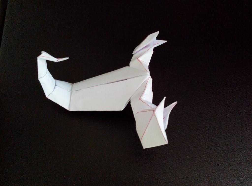 Скорпион оригами (Jozsef Zsebe)