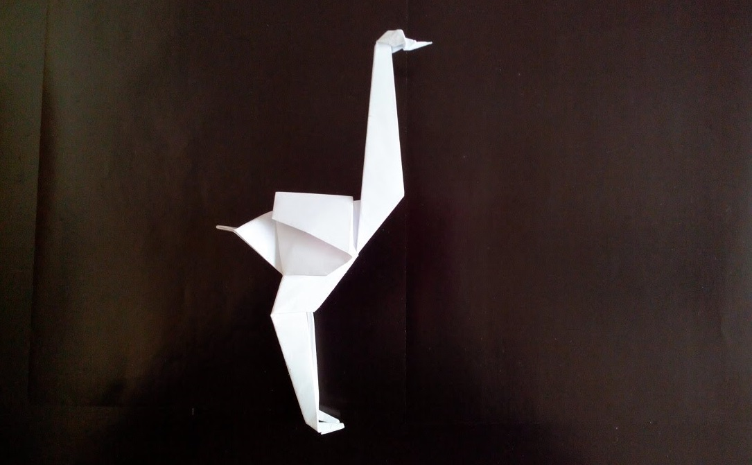 Страус оригами