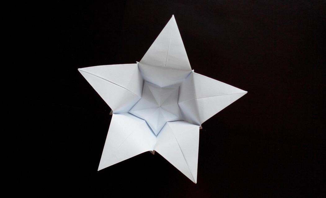 Цветок с 5 лепестками оригами
