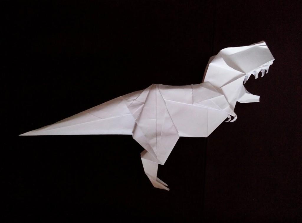 Тиранозавр рекс оригами (Kade Chan)