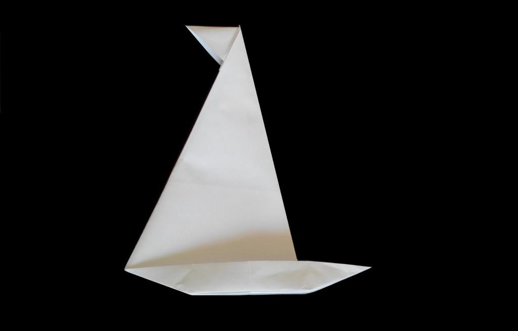 Яхта оригами