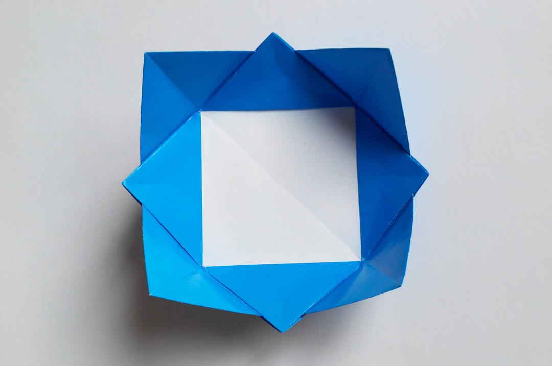 Чаша цветок оригами