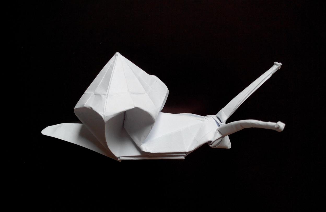 Интересная улитка оригами