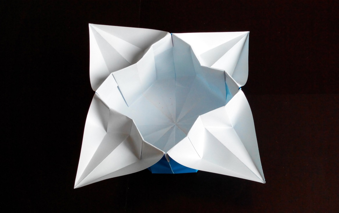 Коробочка корзинка оригами