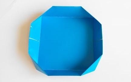 Коробочка плоская оригами