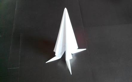 Космическая ракета оригами