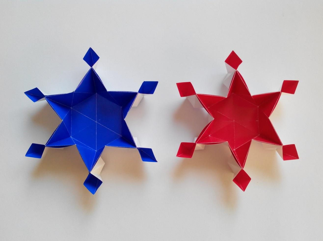 Красивая звездочка оригами
