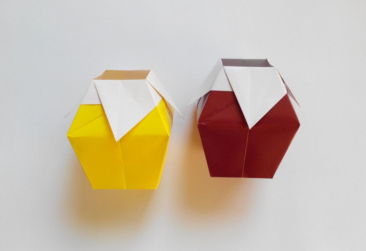 Маленькая ваза оригами