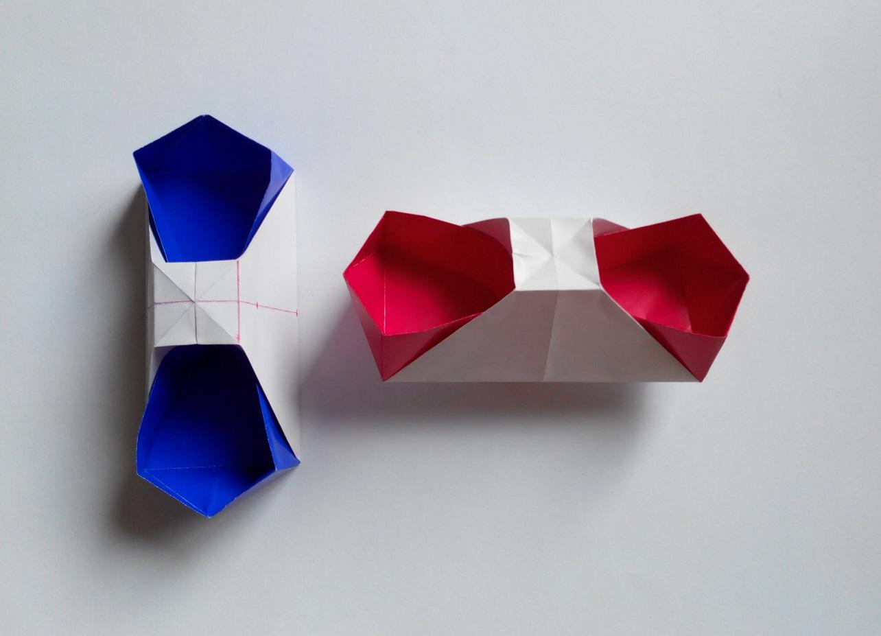 Необычная коробочка оригами