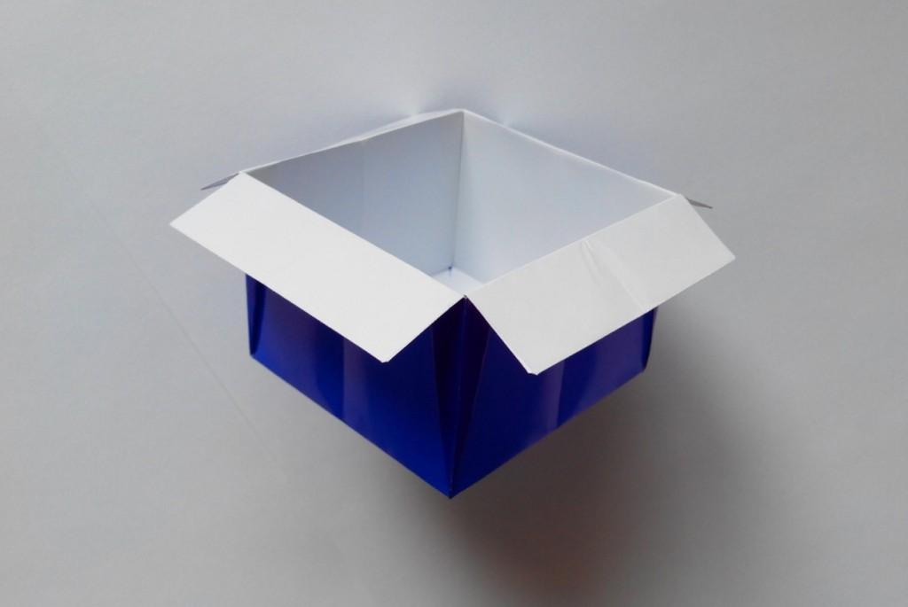 Простой стаканчик оригами