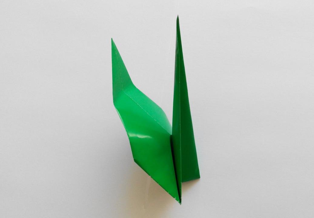 Стебель для цветка оригами