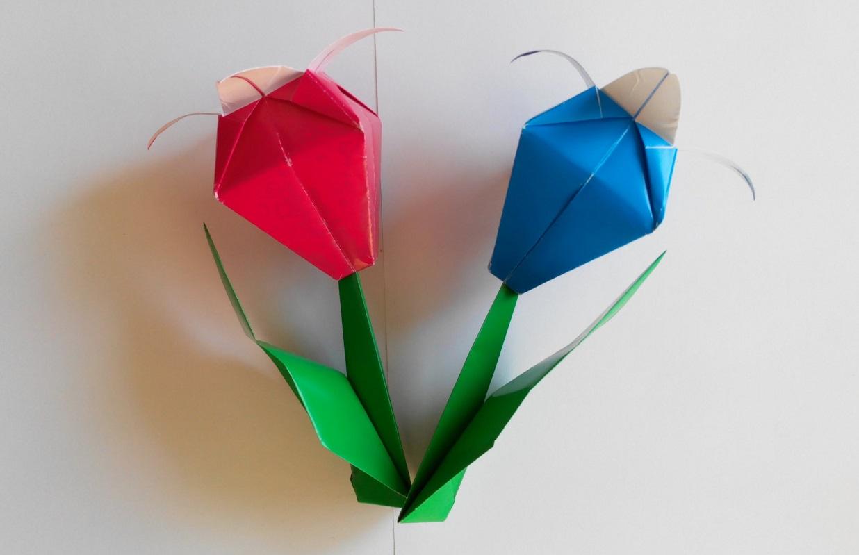 Цветочек оригами