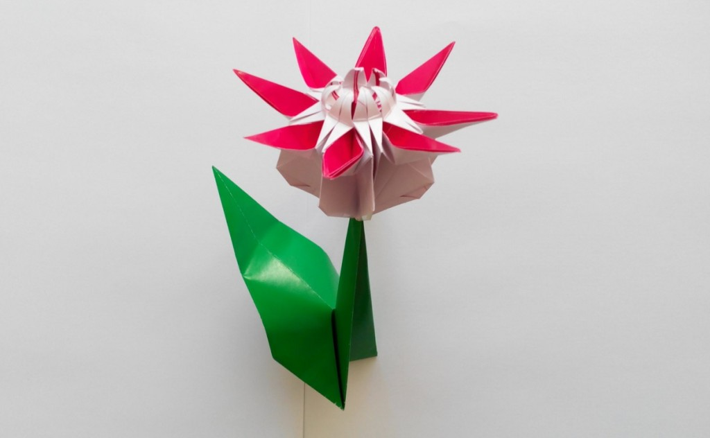 Цветок Маргаритка оригами (Mio Tsugawa)