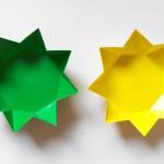 Тарелочка в виде звезды оригами