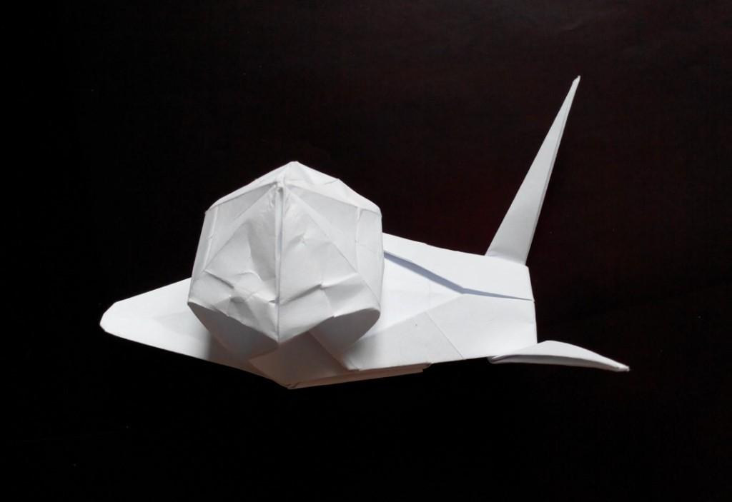 Улитка оригами