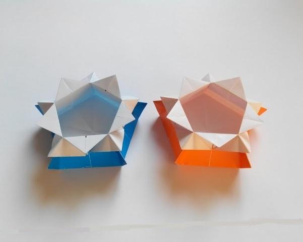 Ваза звездочка оригами