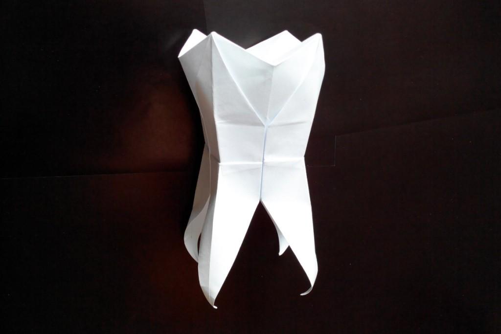 Зуб коренной оригами (Mar Kirschenbaum)