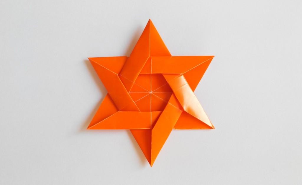 Звезда имеет шесть концов оригами
