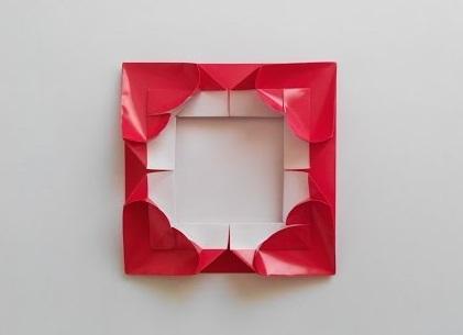 Рамочка для фотографии оригами (Leyla Torres)