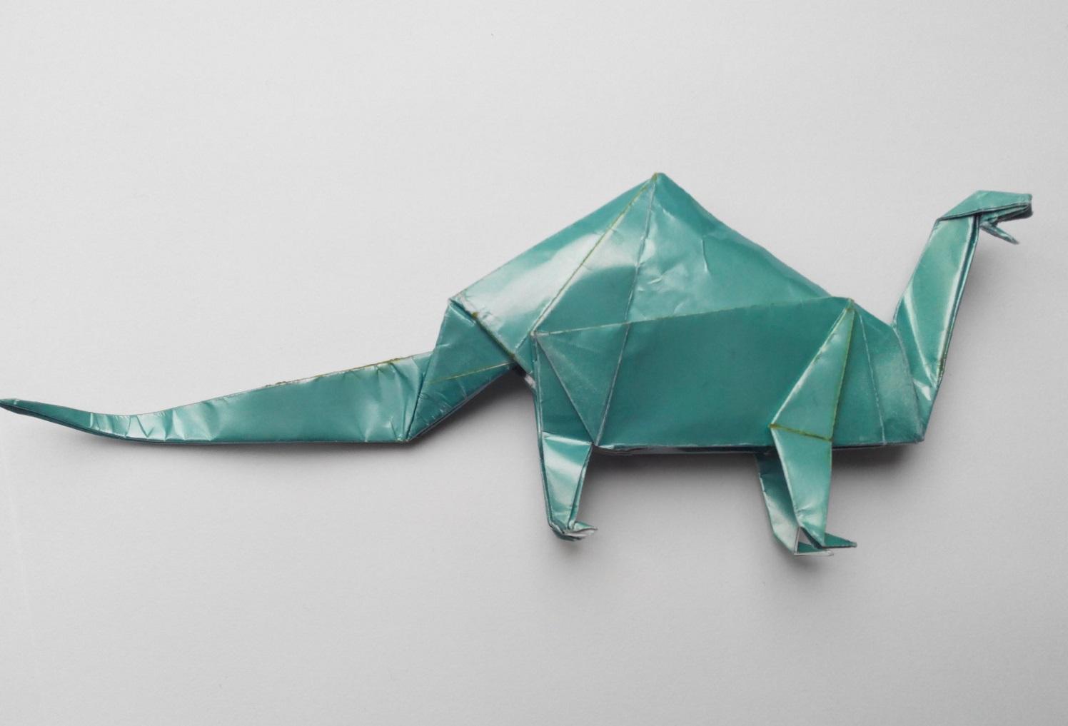 Бронтозавр оригами