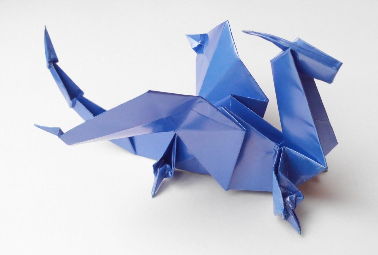 Дракончик оригами