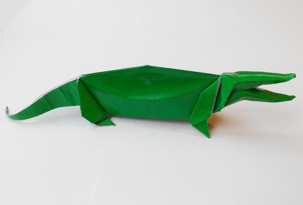 Крокодил оригами