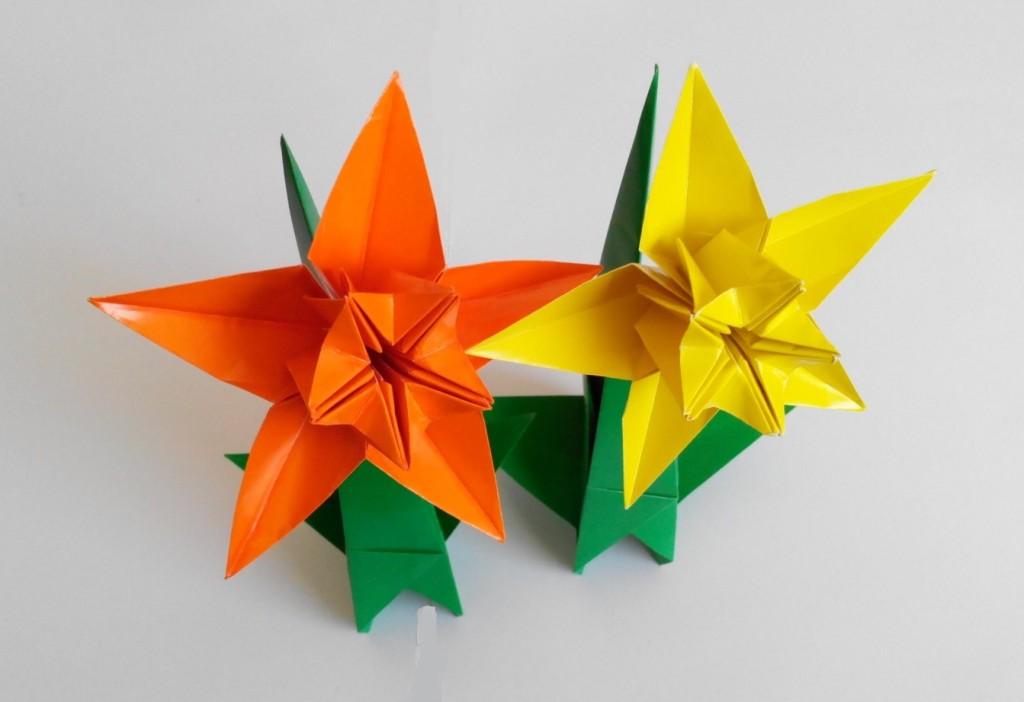 Нарцисс оригами, 5 лепестков (František Grebeníček)