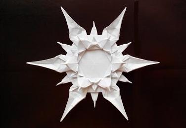 Симпатичная снежинка оригами (Riccardo Foschi)