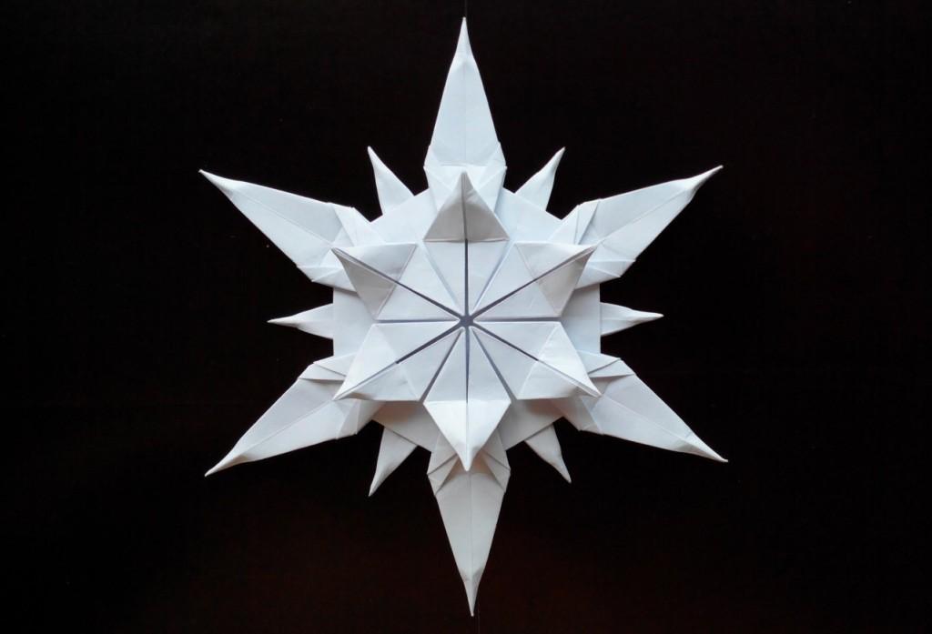 Снежинка оригами (Riccardo Foschi)