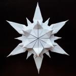 Красивая снежинка оригами (Riccardo Foschi)