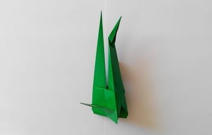 Стебелек для цветка оригами