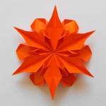 Цветок Георгин оригами