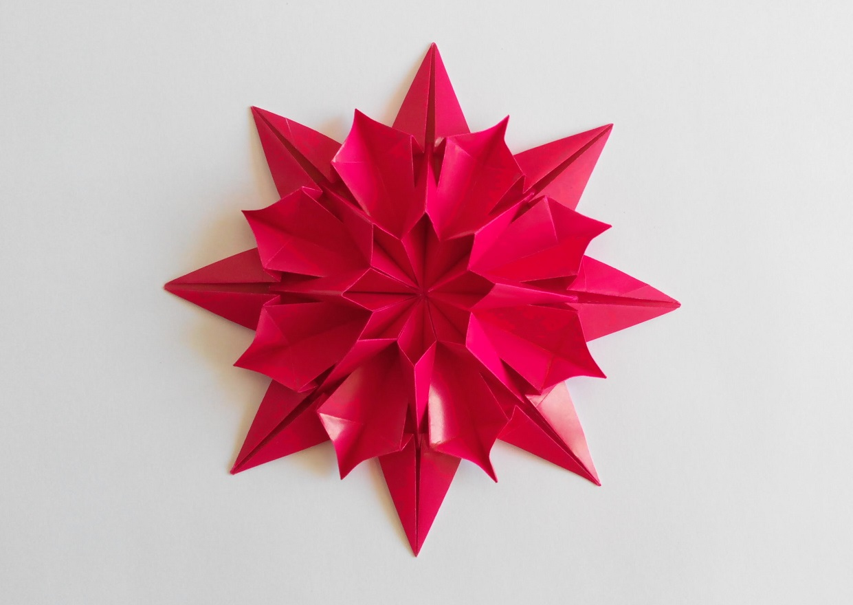 Цветок Хризантема оригами