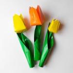 Тюльпан оригами, вариант 1