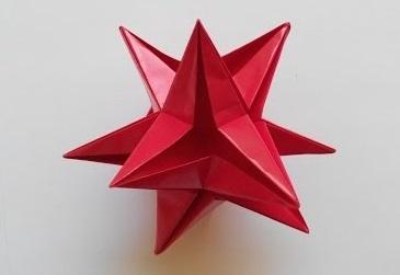 Звезда 3D оригами
