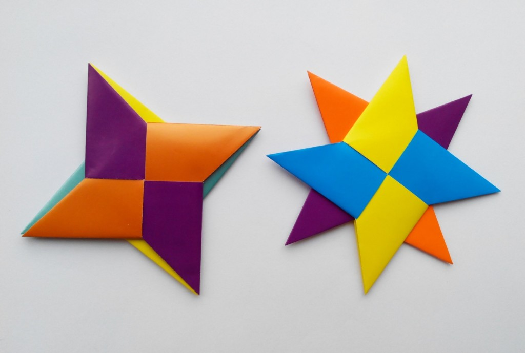 Двойная Звезда Ниндзя (Сюрикен) оригами