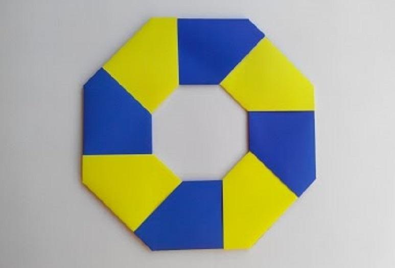 Как легко сделать Ниндя Звезду (Сюрикен) оригами