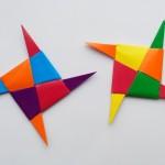 Как сделать Ниндзя Звезду (Сюрикен) оригами