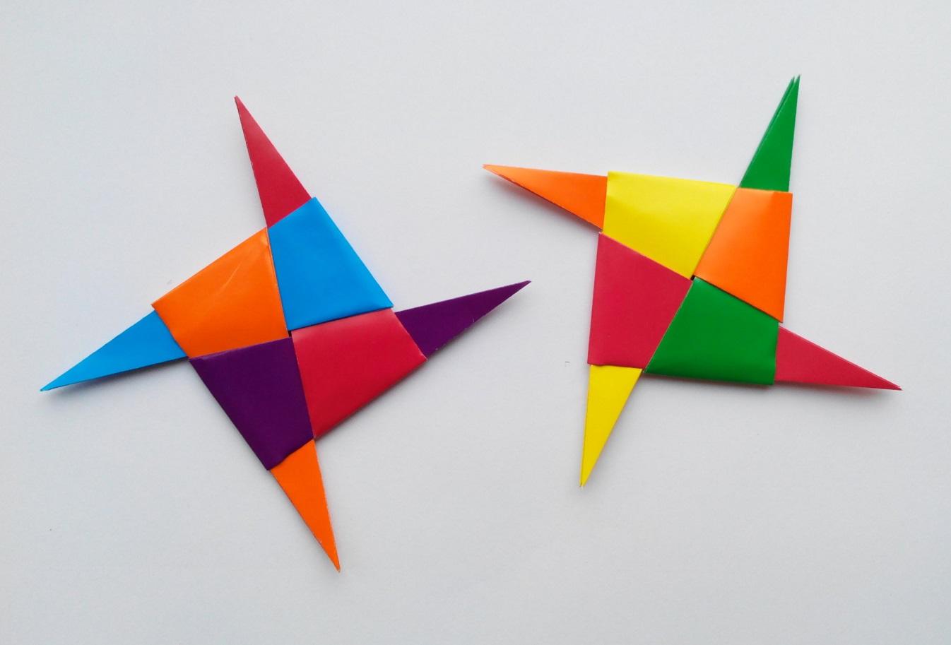 Как сделать Ниндя Звезду (Сюрикен) оригами