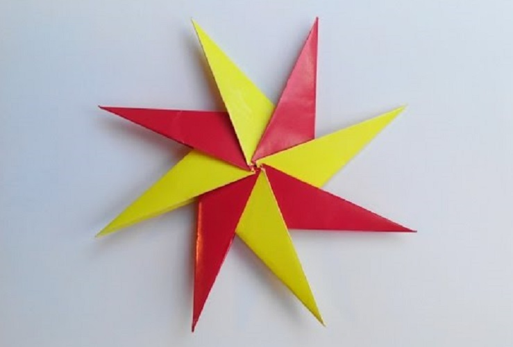 Красивая звездочка ниндзя (Сюрикен) оригами