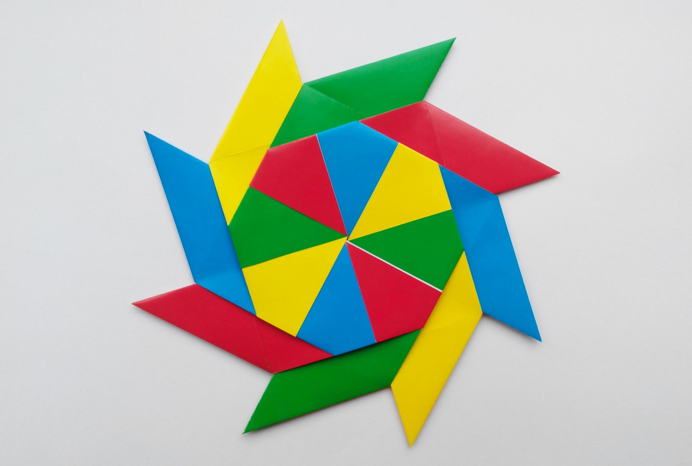 Ниндя Звезда Сюрикен Трансформер оригами (Ray Bolt)