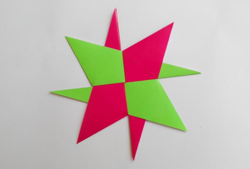 Ниндзя Звезда (Сюрикен) оригами