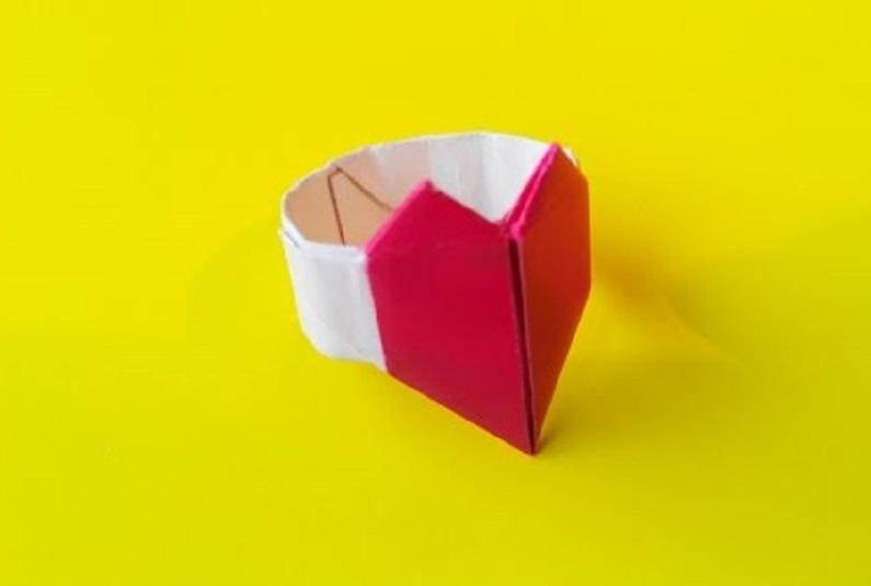 Перстень с сердечком оригами (Francis Ow)