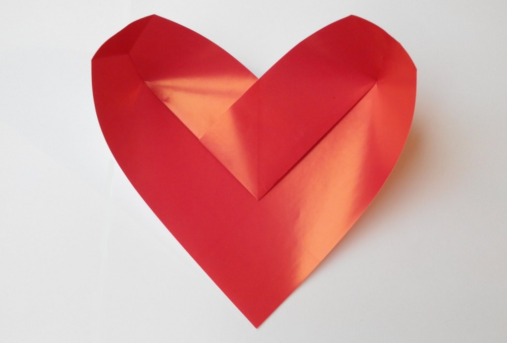 Сердечко коробочка оригами