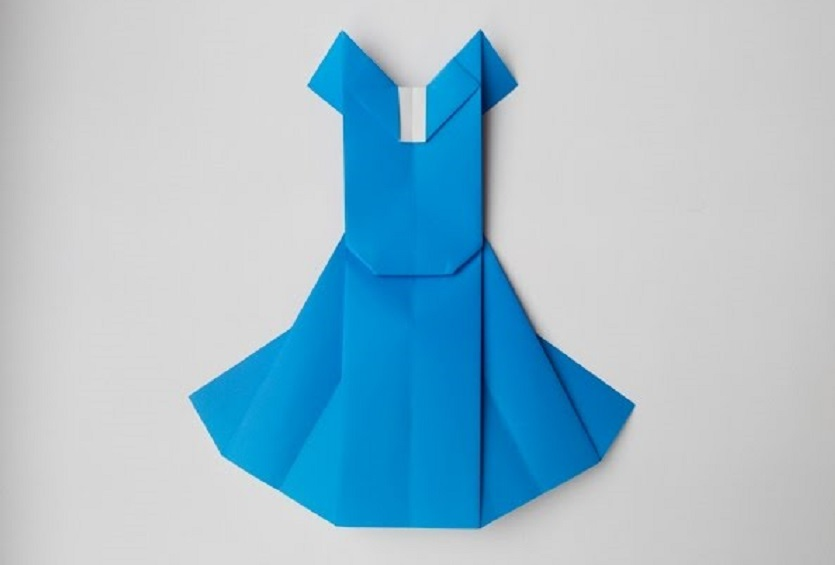 Свадебное платье оригами (Mieko Seta)