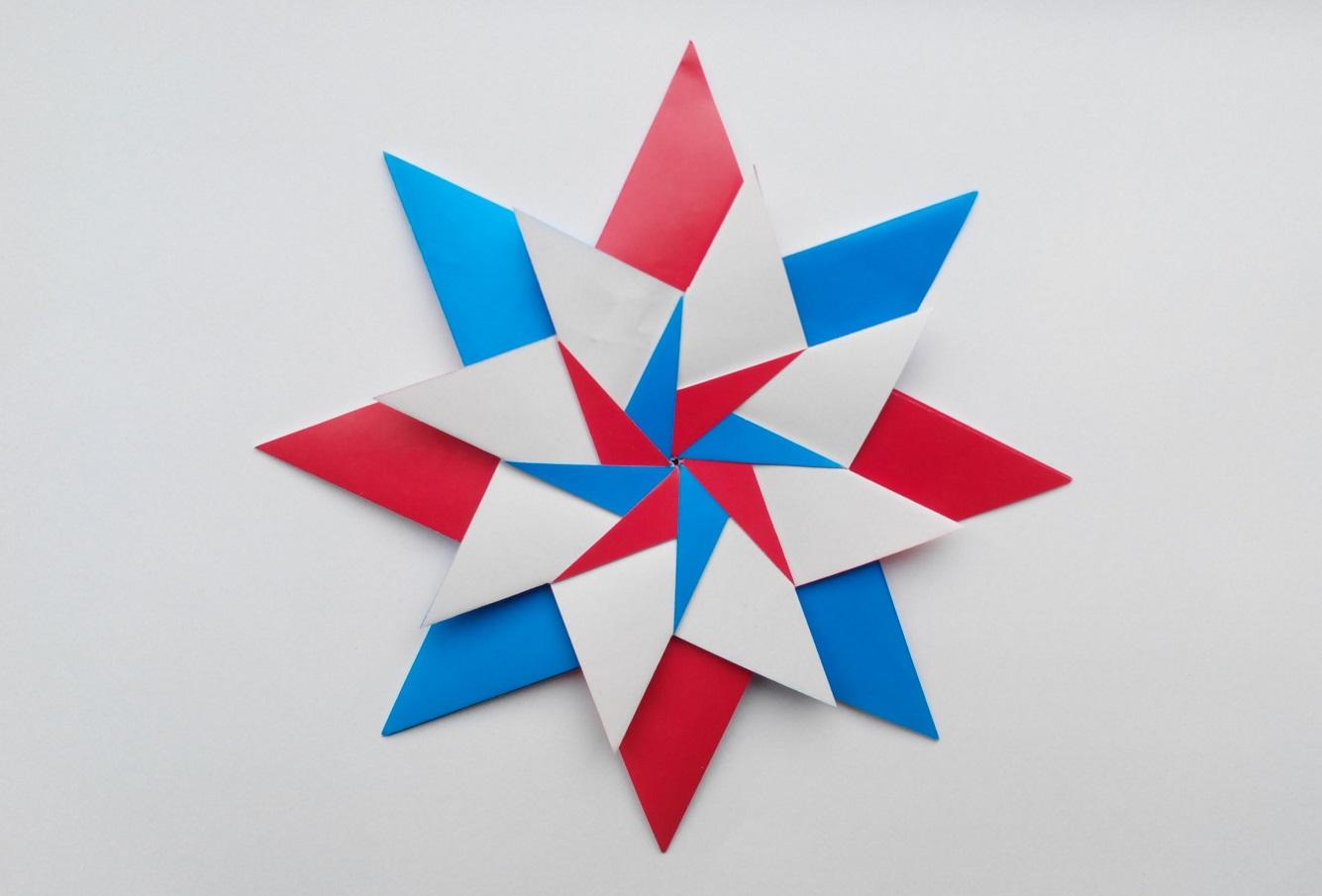 """Звезда оригами """"Carla Mandala Star"""" (Maria Sinayskaya)"""